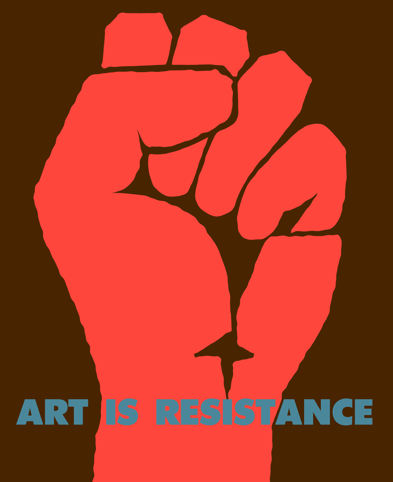 Art is Resistance poster by onno de jong